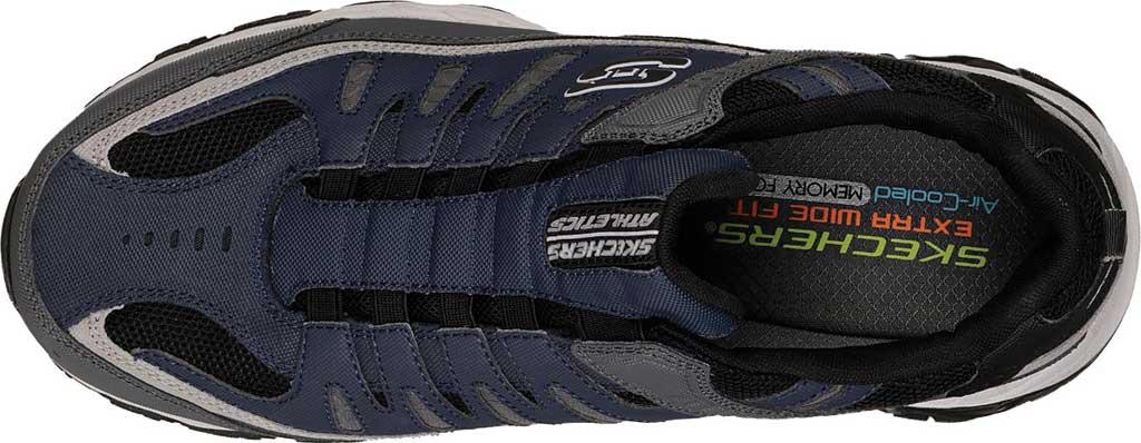 Men's Skechers After Burn M. Fit Slip On Walking Shoe, Navy/Gray, large, image 5