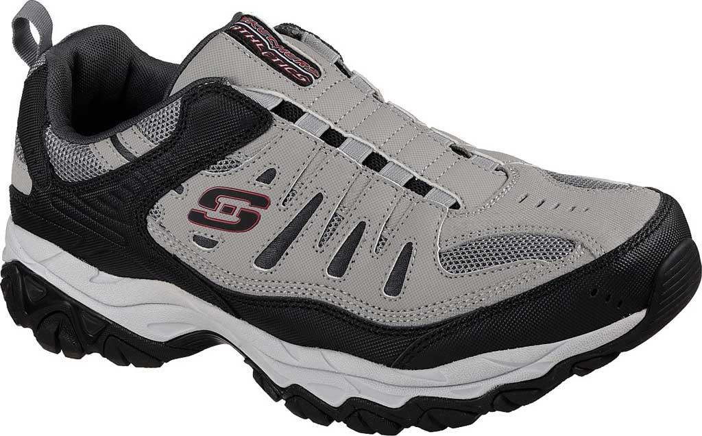 Men's Skechers After Burn M. Fit Slip On Walking Shoe, Gray/Black, large, image 1