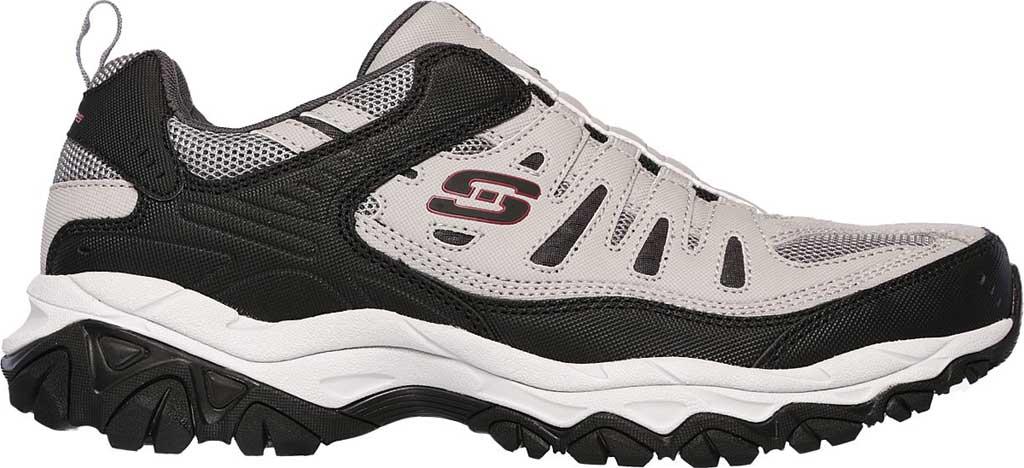 Men's Skechers After Burn M. Fit Slip On Walking Shoe, Gray/Black, large, image 2