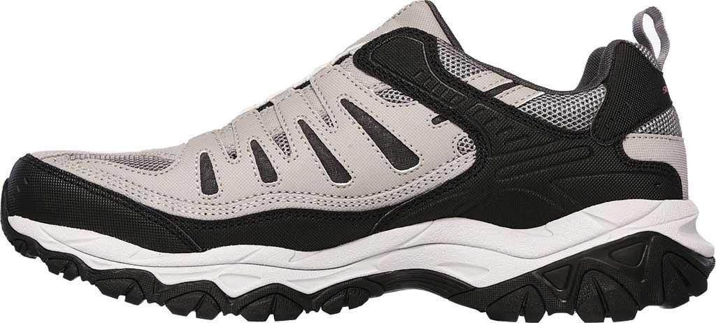 Men's Skechers After Burn M. Fit Slip On Walking Shoe, Gray/Black, large, image 3