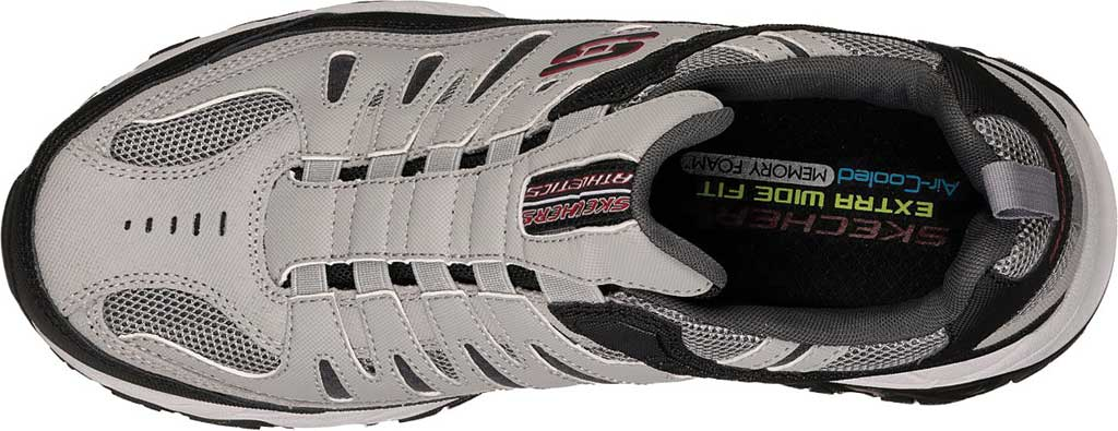 Men's Skechers After Burn M. Fit Slip On Walking Shoe, Gray/Black, large, image 5