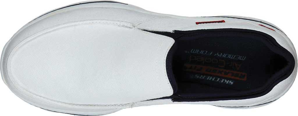 Men's Skechers Relaxed Fit Creston Moseco Loafer, White/Navy, large, image 4
