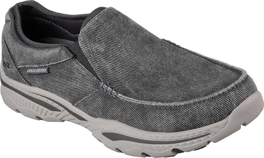 Men's Skechers Relaxed Fit Creston Moseco Loafer, Charcoal, large, image 1
