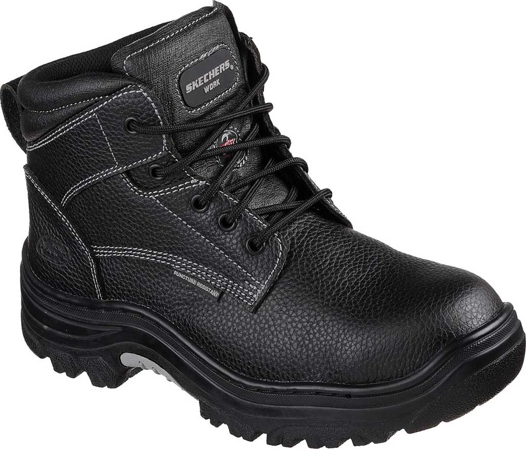 Men's Skechers Work Burgin Tarlac Steel Toe Boot, Black, large, image 1