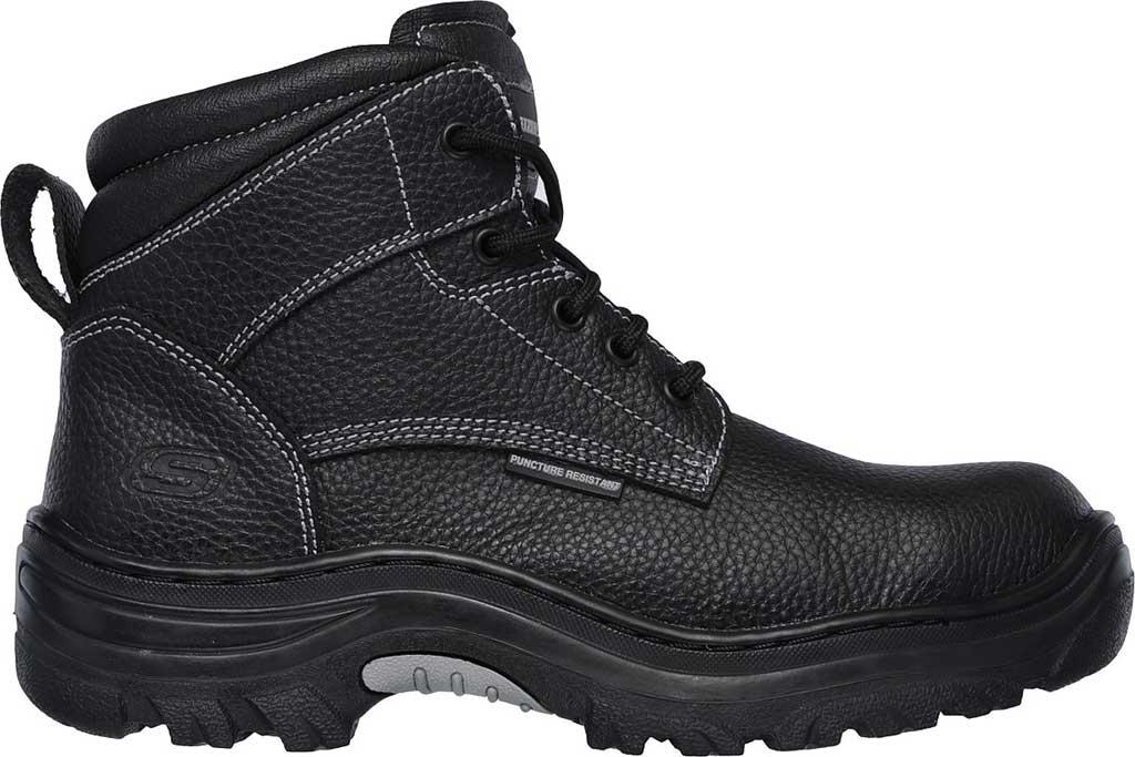 Men's Skechers Work Burgin Tarlac Steel Toe Boot, Black, large, image 2