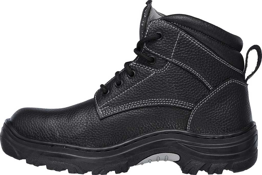 Men's Skechers Work Burgin Tarlac Steel Toe Boot, Black, large, image 3
