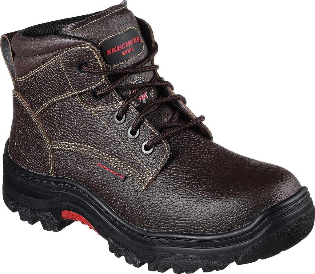 Men's Skechers Work Burgin Tarlac Steel Toe Boot, Brown, large, image 1
