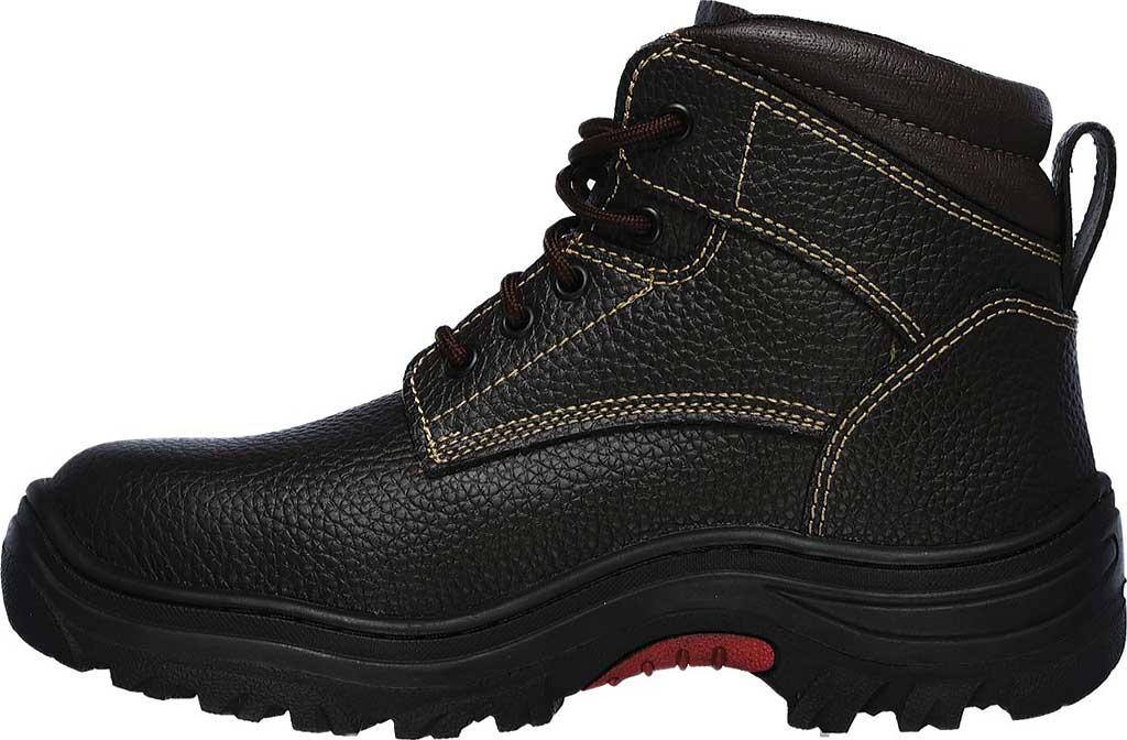 Men's Skechers Work Burgin Tarlac Steel Toe Boot, Brown, large, image 3