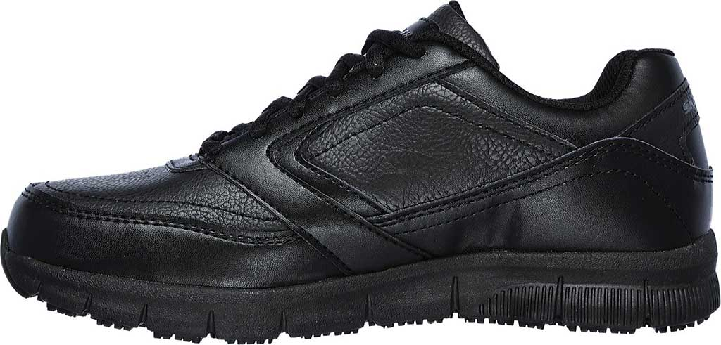 Women's Skechers Work Relaxed Fit Nampa Wyola Slip Resistant Shoe, Black, large, image 3