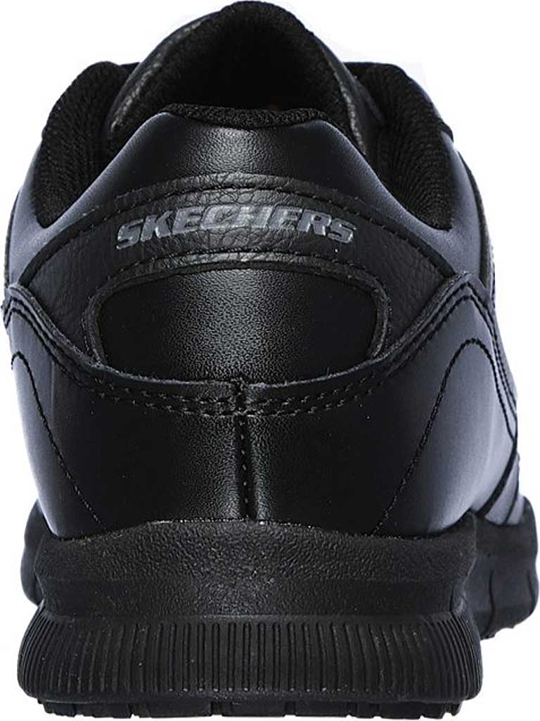 Women's Skechers Work Relaxed Fit Nampa Wyola Slip Resistant Shoe, Black, large, image 4