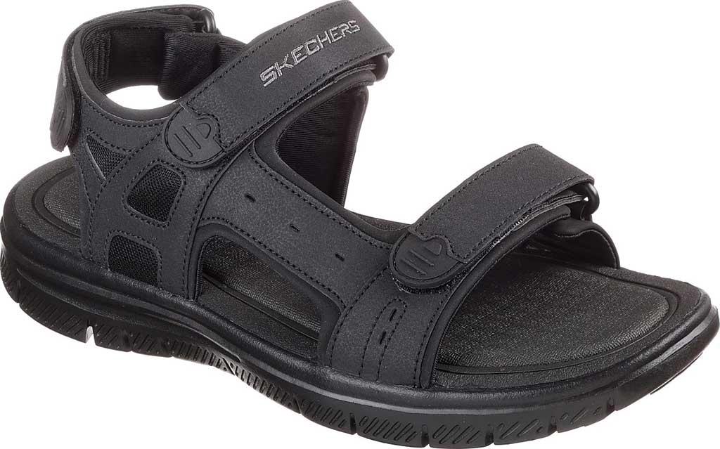 Men's Skechers Flex Advantage S Upwell Sport Sandal, Black/Black, large, image 1