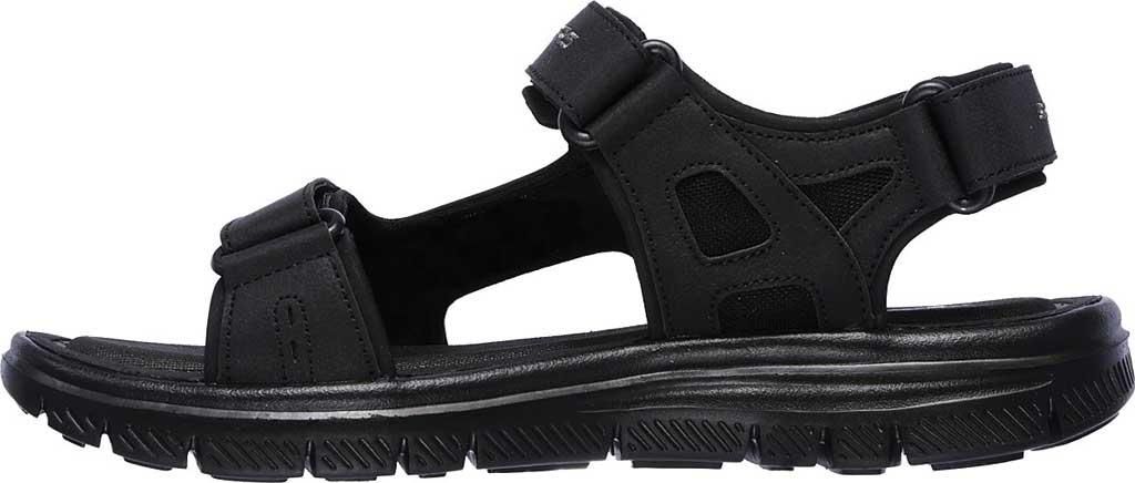 Men's Skechers Flex Advantage S Upwell Sport Sandal, Black/Black, large, image 3