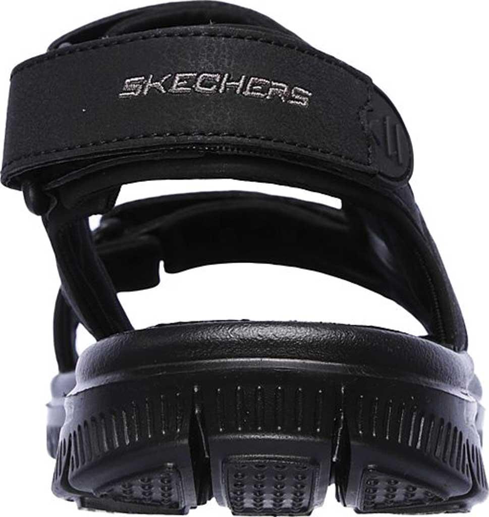 Men's Skechers Flex Advantage S Upwell Sport Sandal, Black/Black, large, image 4