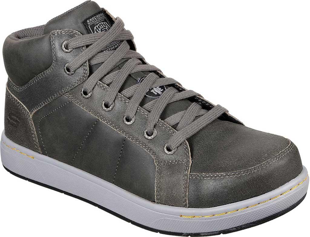 Men's Skechers Work Watab Stirling Steel Toe High Top, Charcoal, large, image 1