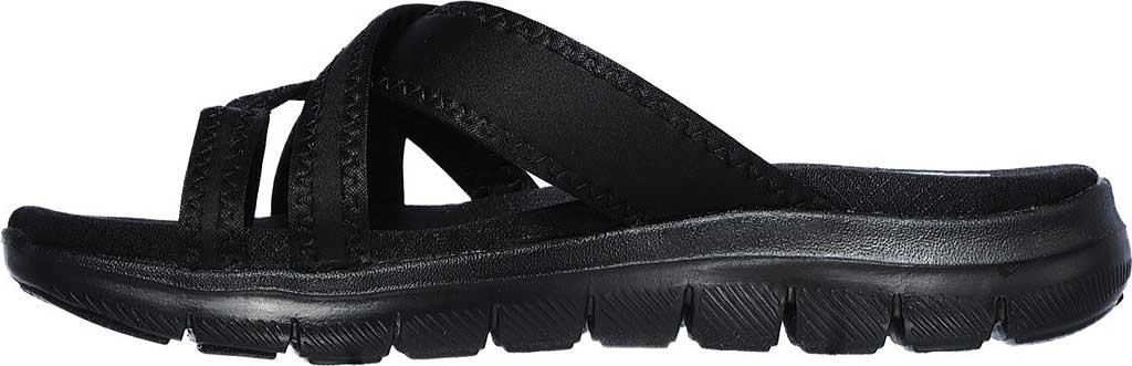 Women's Skechers Flex Appeal 2.0 Start Up Toe Loop Sandal, Black/Black, large, image 3