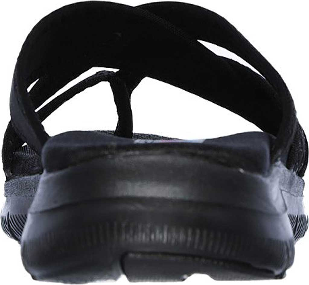 Women's Skechers Flex Appeal 2.0 Start Up Toe Loop Sandal, Black/Black, large, image 4