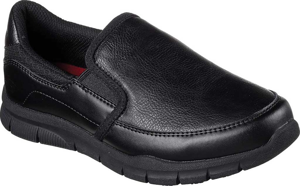Women's Skechers Work Relaxed Fit Nampa Annod Slip Resistant Shoe, Black, large, image 1