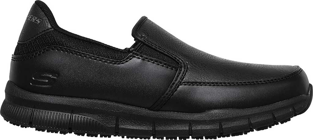 Women's Skechers Work Relaxed Fit Nampa Annod Slip Resistant Shoe, Black, large, image 2
