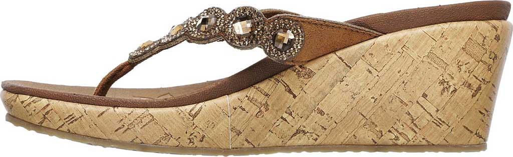 Women's Skechers Beverlee Bizzy Babe Wedge Sandal, Tan, large, image 3
