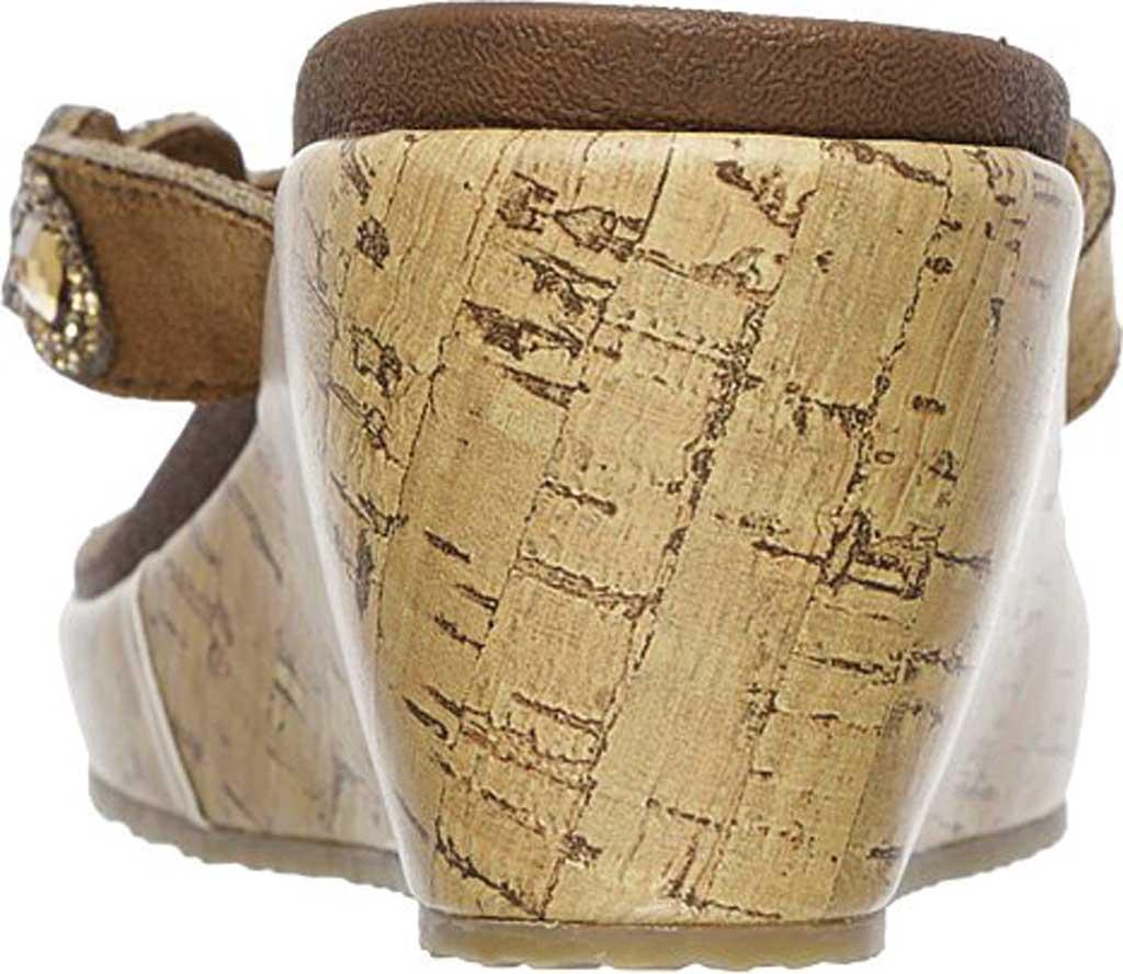 Women's Skechers Beverlee Bizzy Babe Wedge Sandal, Tan, large, image 4