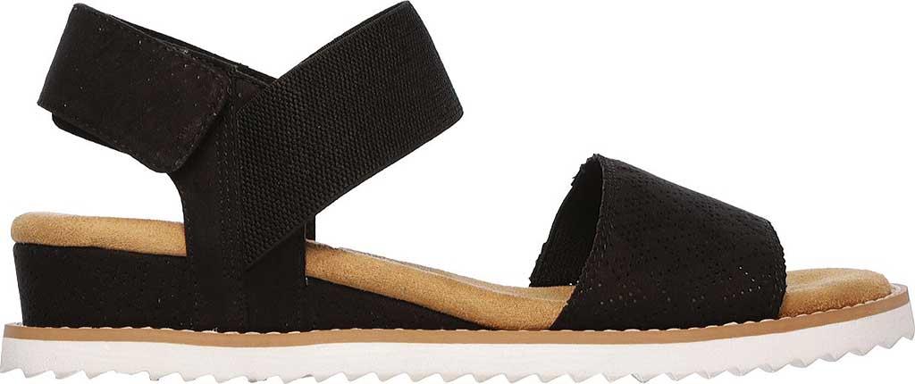 Women's Skechers BOBS Desert Kiss Quarter Strap Sandal, Black, large, image 2