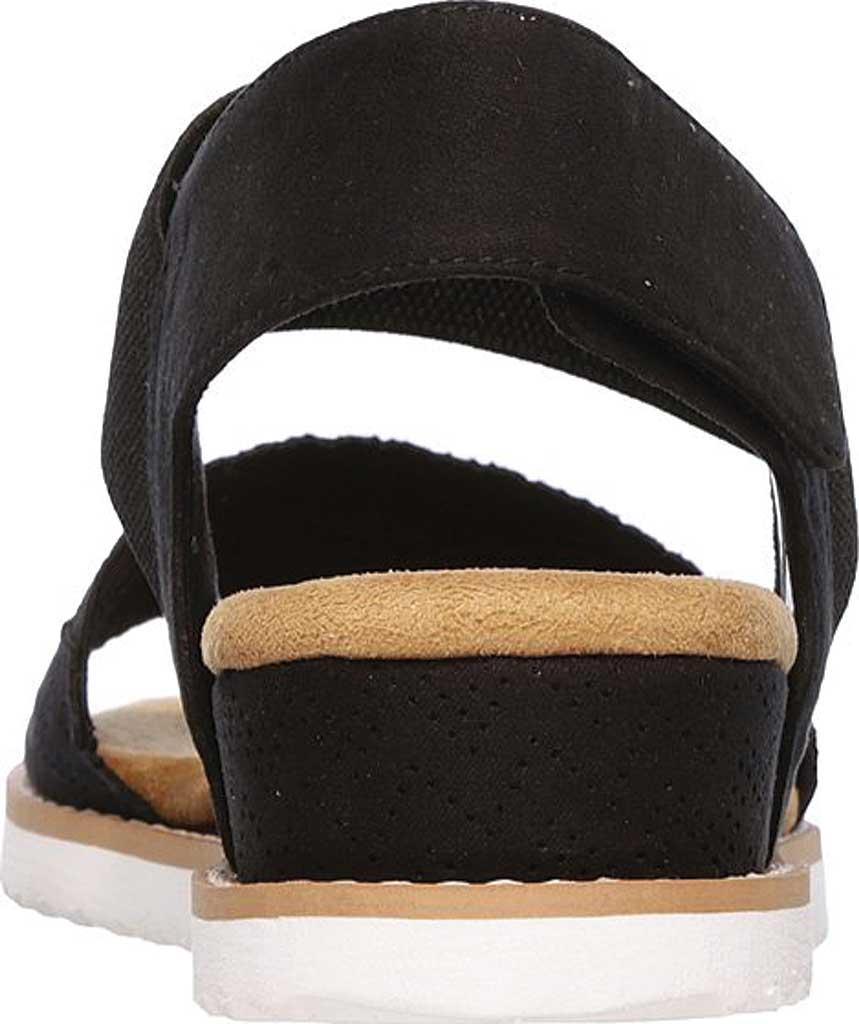 Women's Skechers BOBS Desert Kiss Quarter Strap Sandal, Black, large, image 4