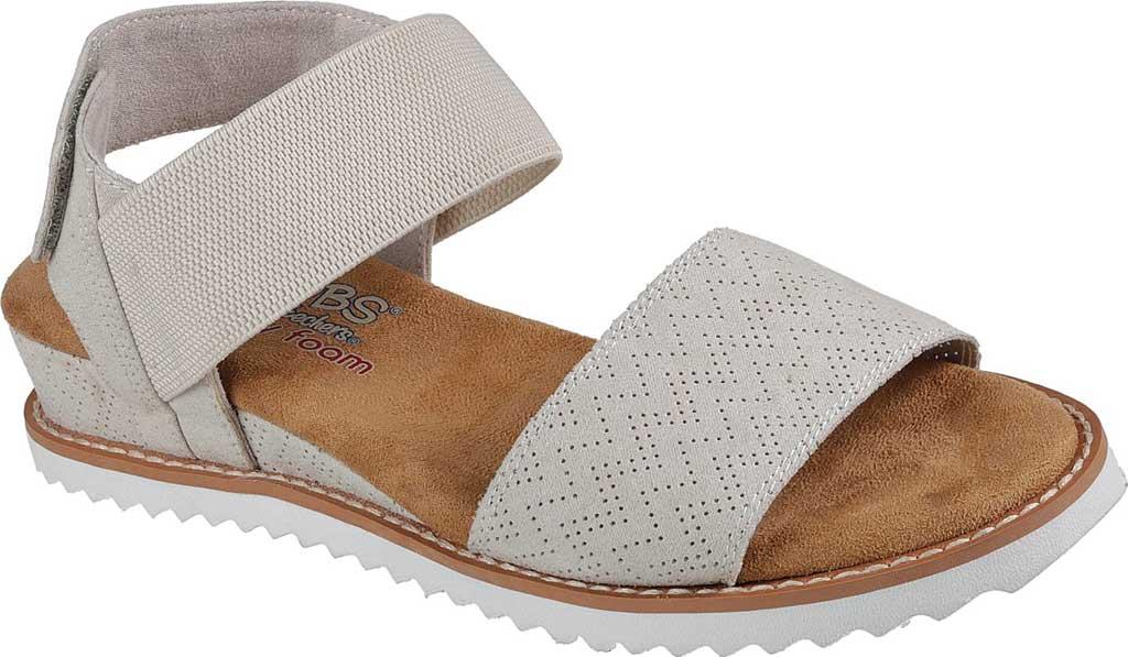 Women's Skechers BOBS Desert Kiss Quarter Strap Sandal, Off White, large, image 1