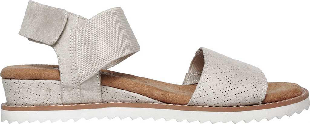 Women's Skechers BOBS Desert Kiss Quarter Strap Sandal, Off White, large, image 2