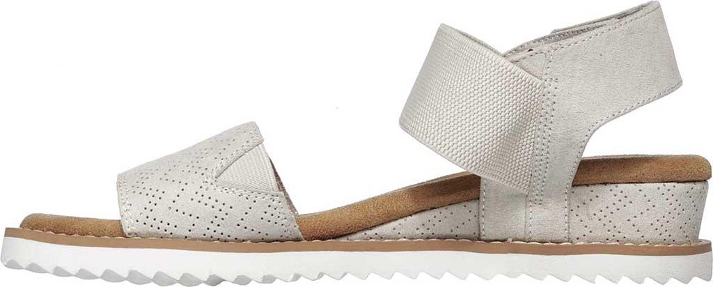 Women's Skechers BOBS Desert Kiss Quarter Strap Sandal, Off White, large, image 3