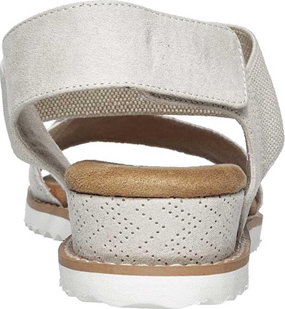 Women's Skechers BOBS Desert Kiss Quarter Strap Sandal, Off White, large, image 4