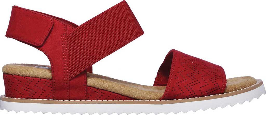 Women's Skechers BOBS Desert Kiss Quarter Strap Sandal, Red, large, image 2