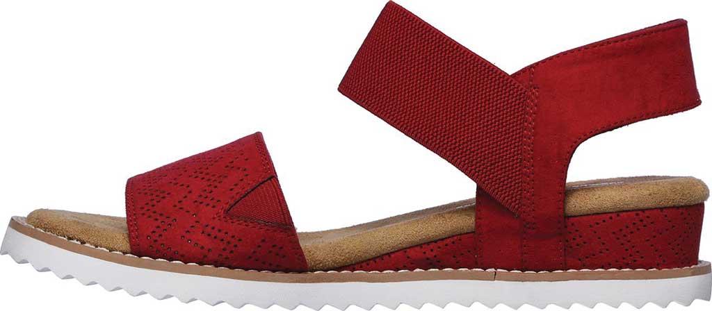Women's Skechers BOBS Desert Kiss Quarter Strap Sandal, Red, large, image 3