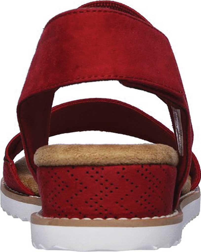 Women's Skechers BOBS Desert Kiss Quarter Strap Sandal, Red, large, image 4