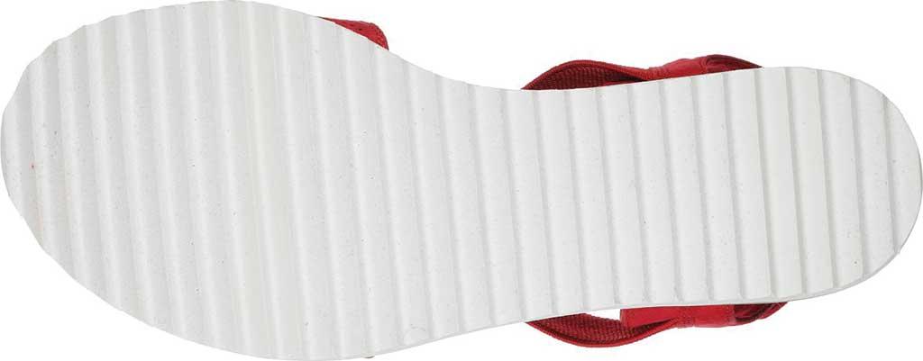 Women's Skechers BOBS Desert Kiss Quarter Strap Sandal, Red, large, image 6