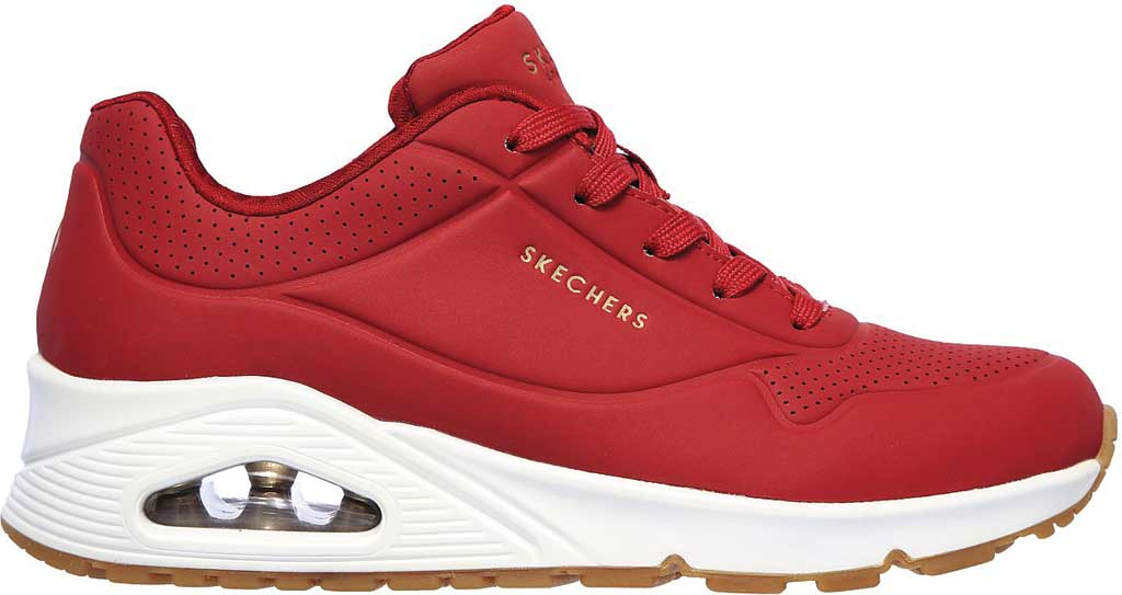 Women's Skechers Uno Stand on Air Sneaker, Dark Red, large, image 2