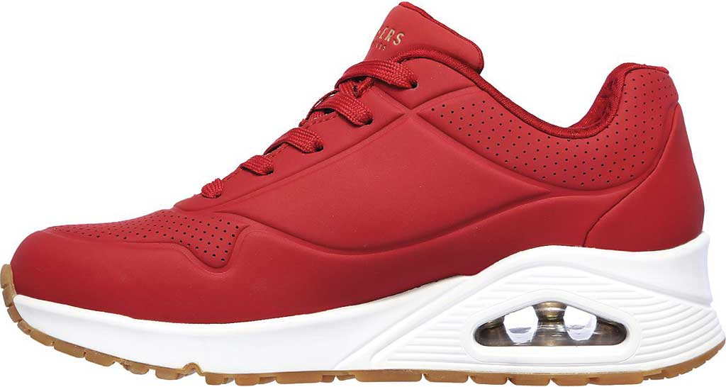 Women's Skechers Uno Stand on Air Sneaker, Dark Red, large, image 3