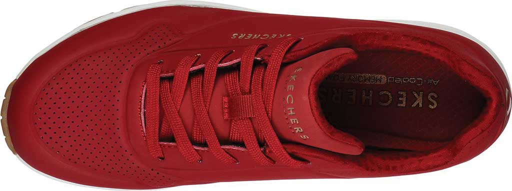 Women's Skechers Uno Stand on Air Sneaker, Dark Red, large, image 4