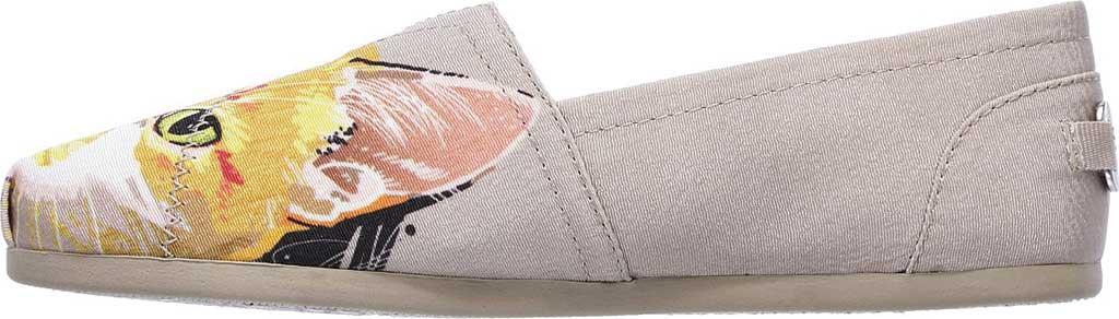 Women's Skechers BOBS Plush Paw-Fection Callie Alpargata, Taupe, large, image 3