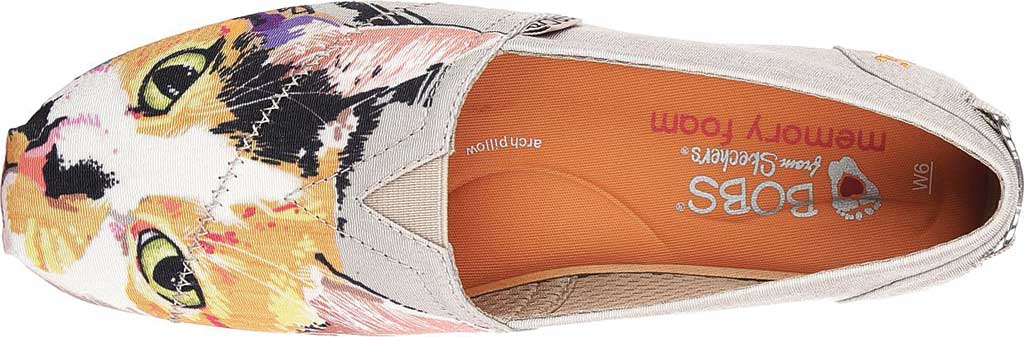 Women's Skechers BOBS Plush Paw-Fection Callie Alpargata, Taupe, large, image 5