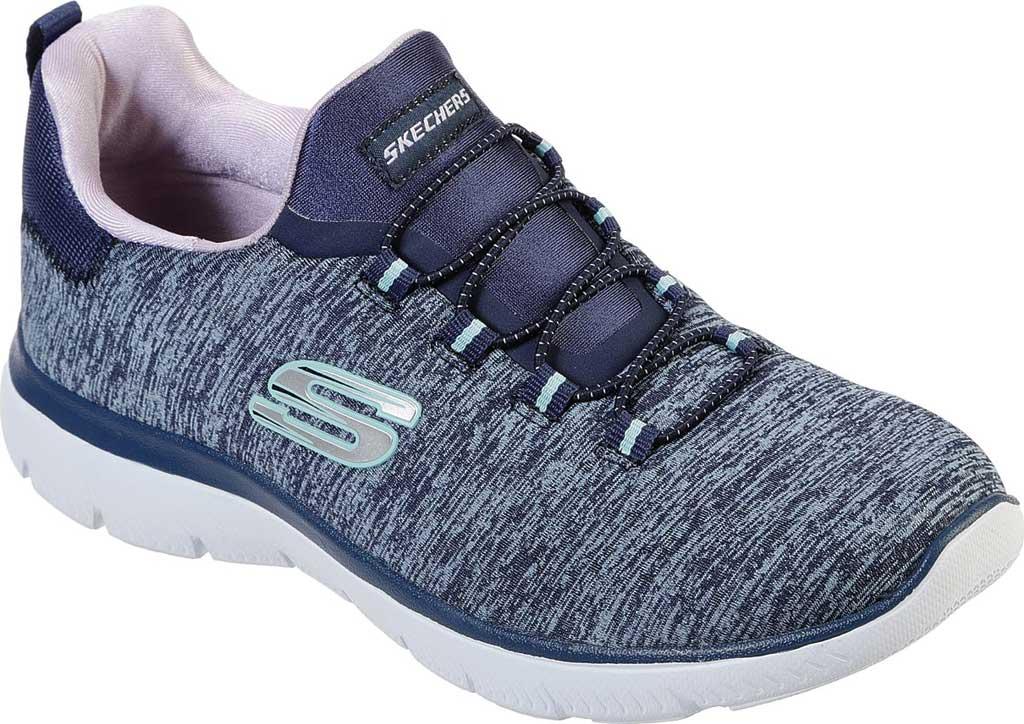 Women's Skechers Summits Quick Getaway Sneaker, Navy/Purple, large, image 1
