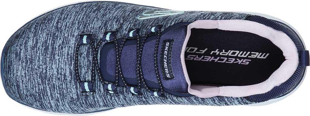 Women's Skechers Summits Quick Getaway Sneaker, Navy/Purple, large, image 5