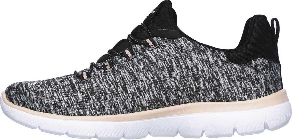 Women's Skechers Summits Quick Getaway Sneaker, Black/Coral, large, image 3