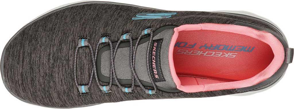 Women's Skechers Summits Quick Getaway Sneaker, Gray/Coral, large, image 3