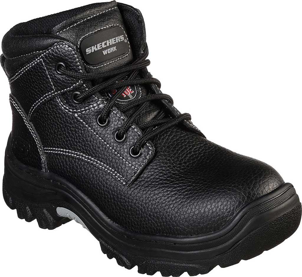 Women's Skechers Work Burgin Krabok Steel Toe Boot, Black, large, image 1