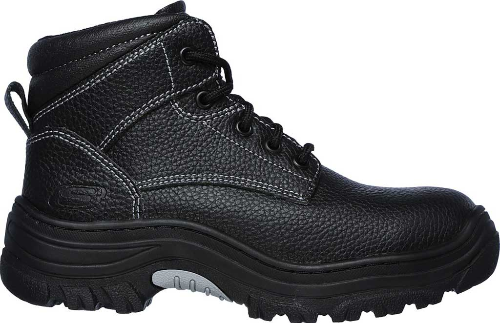 Women's Skechers Work Burgin Krabok Steel Toe Boot, Black, large, image 2