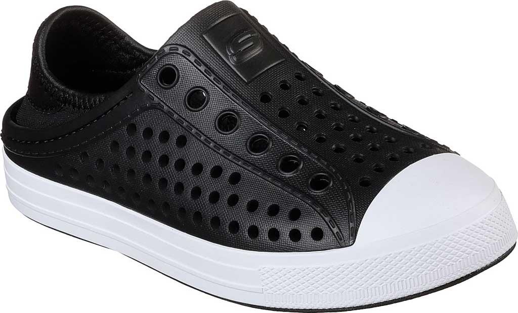 Boys' Skechers Guzman Steps Aqua Surge Slip-On Shoe, Black, large, image 1
