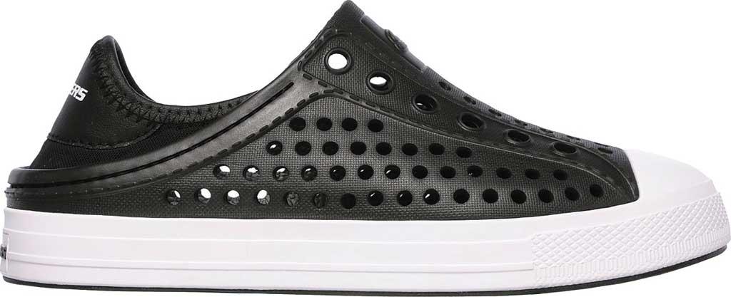 Boys' Skechers Guzman Steps Aqua Surge Slip-On Shoe, Black, large, image 2