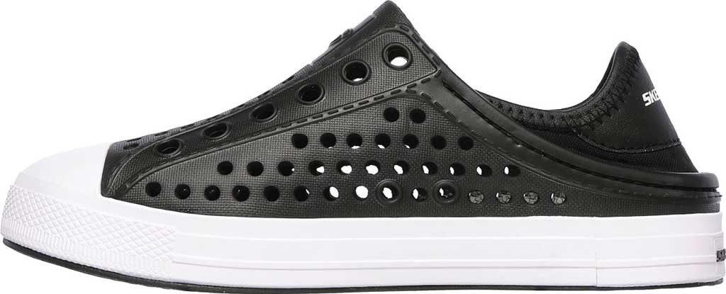 Boys' Skechers Guzman Steps Aqua Surge Slip-On Shoe, Black, large, image 3