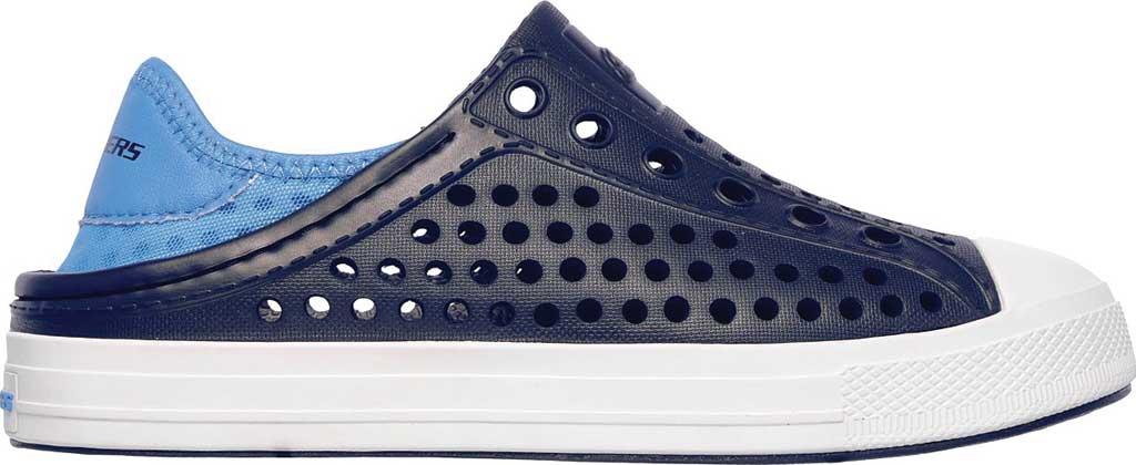 Boys' Skechers Guzman Steps Aqua Surge Slip-On Shoe, Navy/Blue, large, image 2