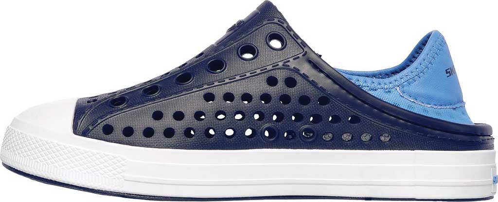 Boys' Skechers Guzman Steps Aqua Surge Slip-On Shoe, Navy/Blue, large, image 3